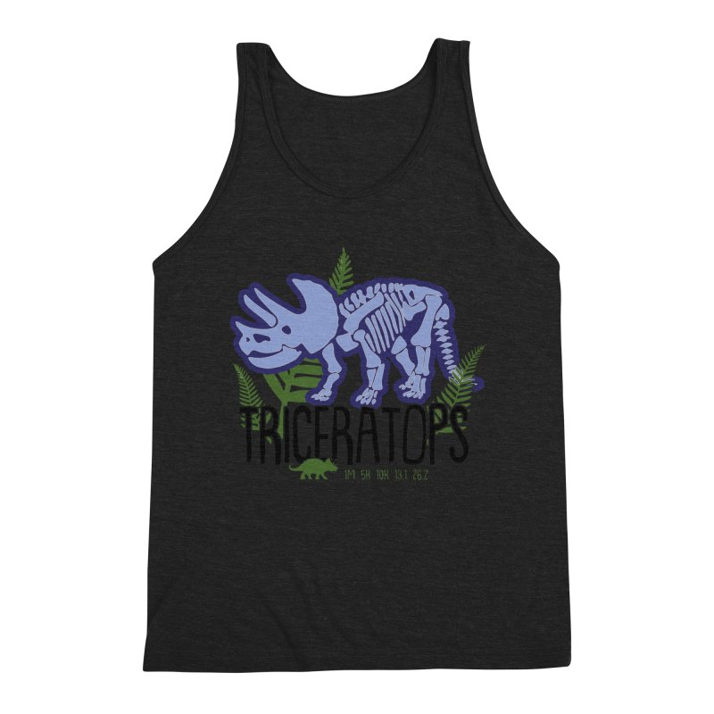 Triceratops Men's Triblend Tank by Moon Joggers's Artist Shop