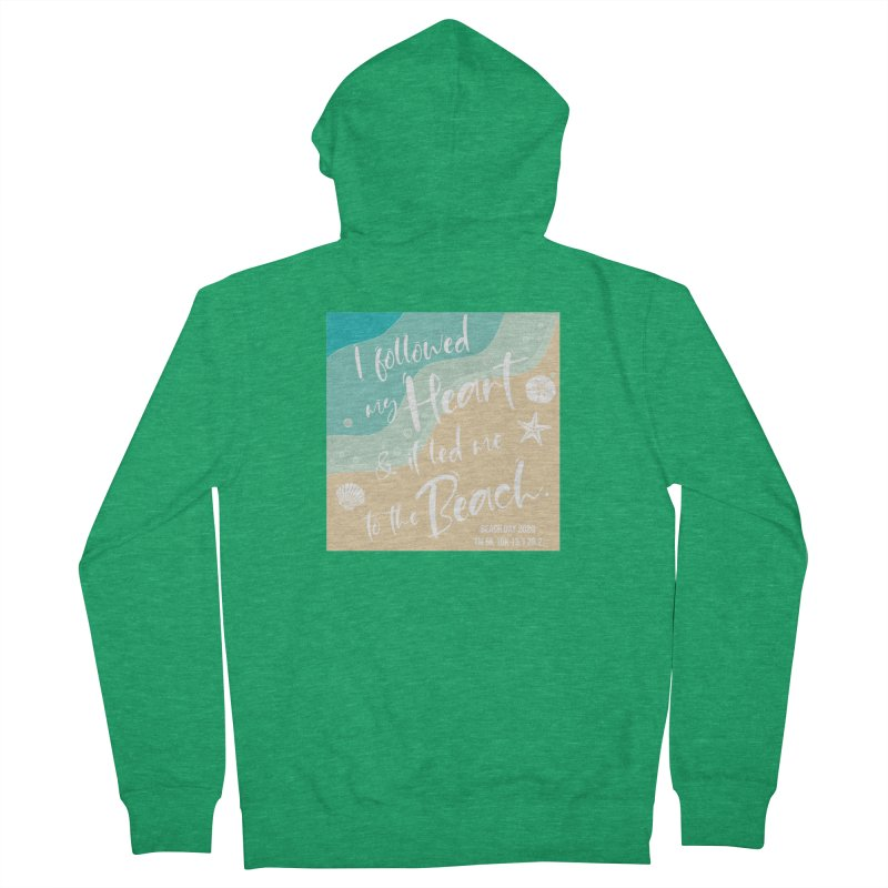 Beach Day Men's French Terry Zip-Up Hoody by Moon Joggers's Artist Shop
