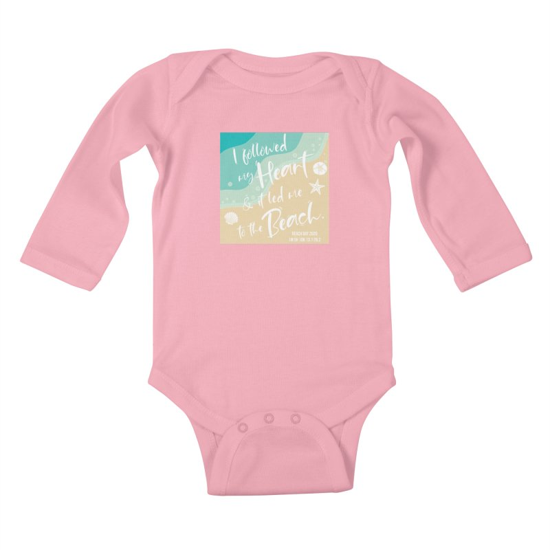 Beach Day Kids Baby Longsleeve Bodysuit by Moon Joggers's Artist Shop