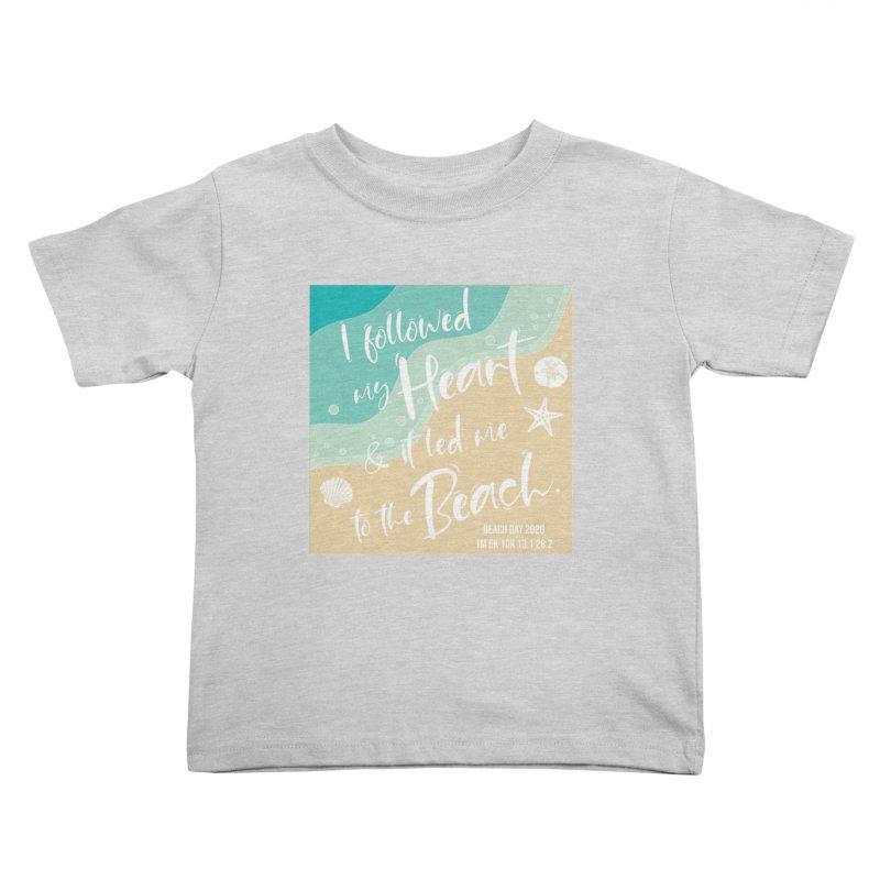 Beach Day Kids Toddler T-Shirt by Moon Joggers's Artist Shop