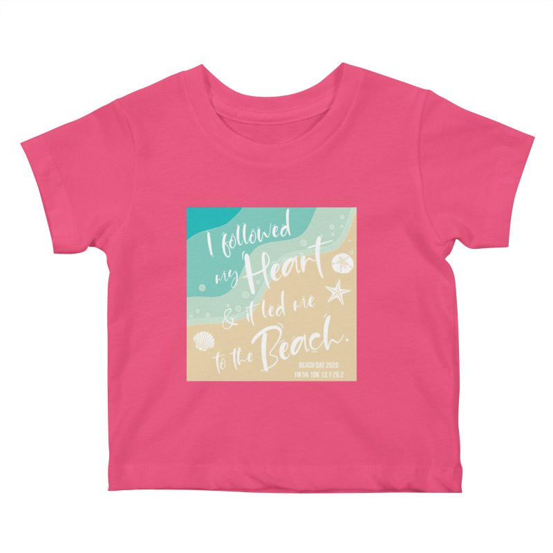 Beach Day Kids Baby T-Shirt by Moon Joggers's Artist Shop