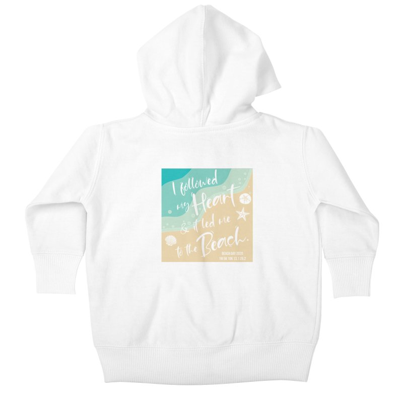 Beach Day Kids Baby Zip-Up Hoody by Moon Joggers's Artist Shop