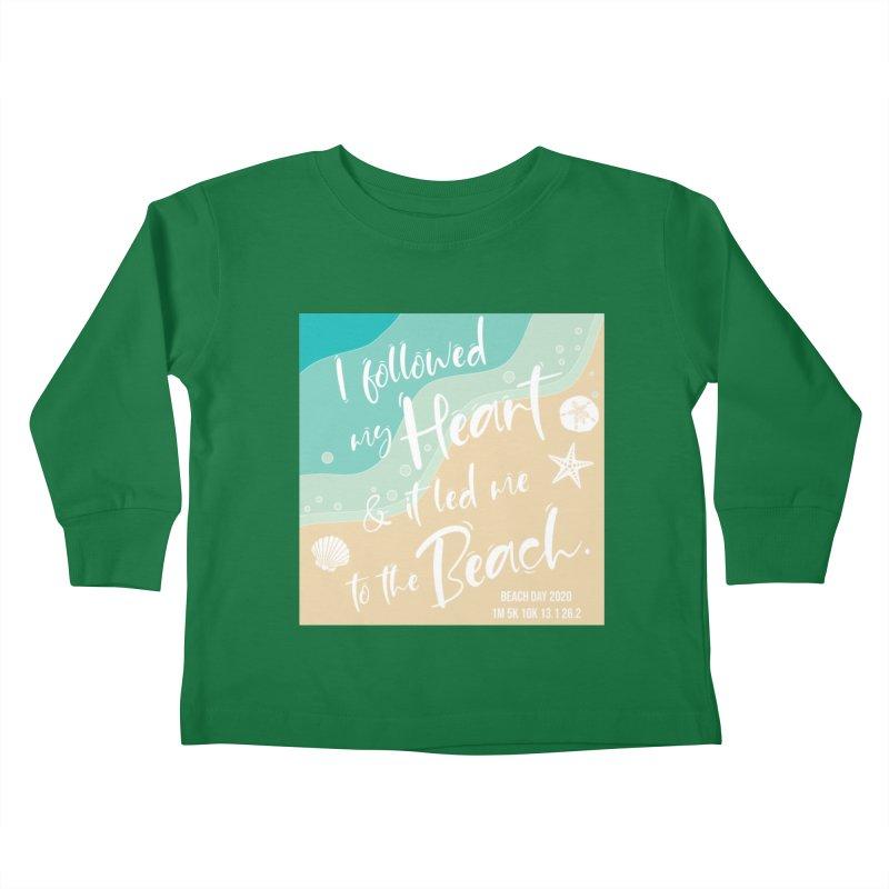 Beach Day Kids Toddler Longsleeve T-Shirt by Moon Joggers's Artist Shop
