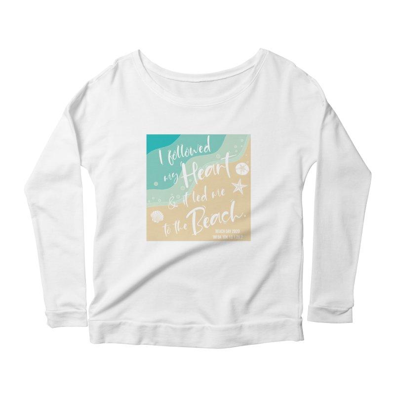 Beach Day Women's Scoop Neck Longsleeve T-Shirt by Moon Joggers's Artist Shop