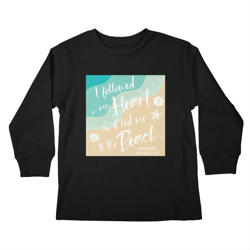 Beach Day Kids Longsleeve T-Shirt by Moon Joggers's Artist Shop