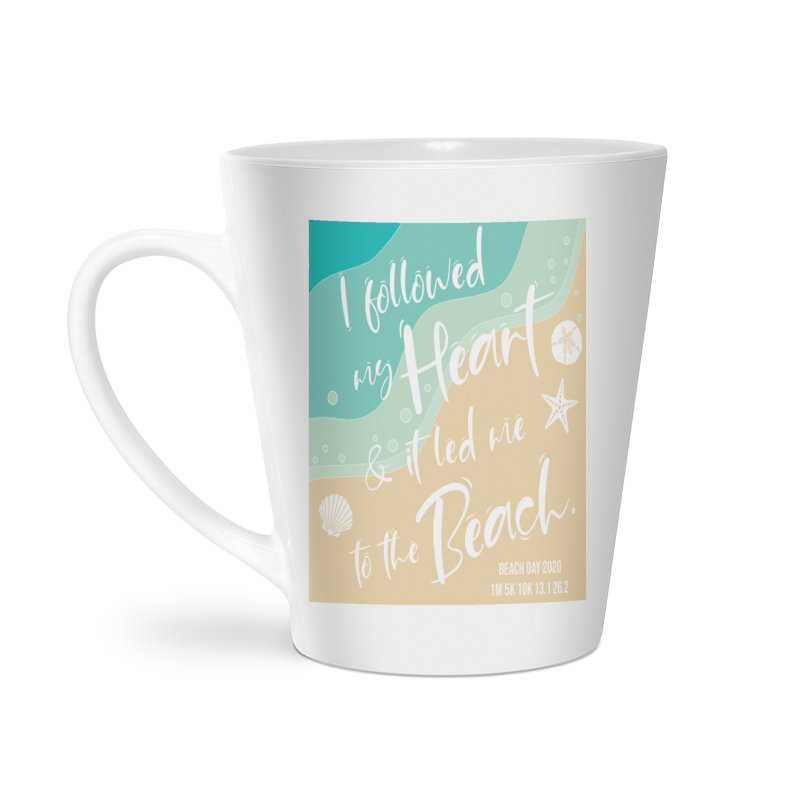 Beach Day Accessories Latte Mug by Moon Joggers's Artist Shop