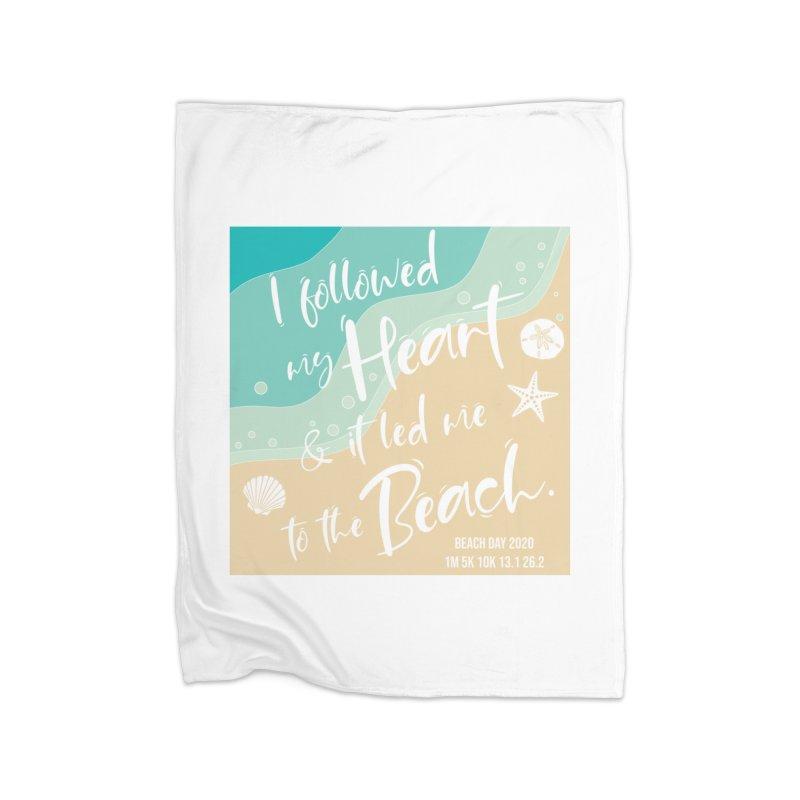 Beach Day Home Fleece Blanket Blanket by Moon Joggers's Artist Shop