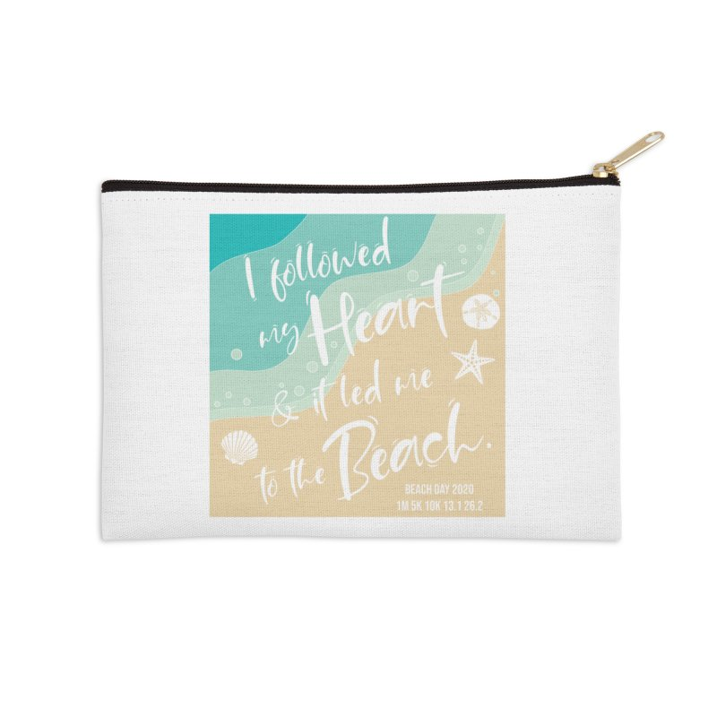 Beach Day Accessories Zip Pouch by Moon Joggers's Artist Shop