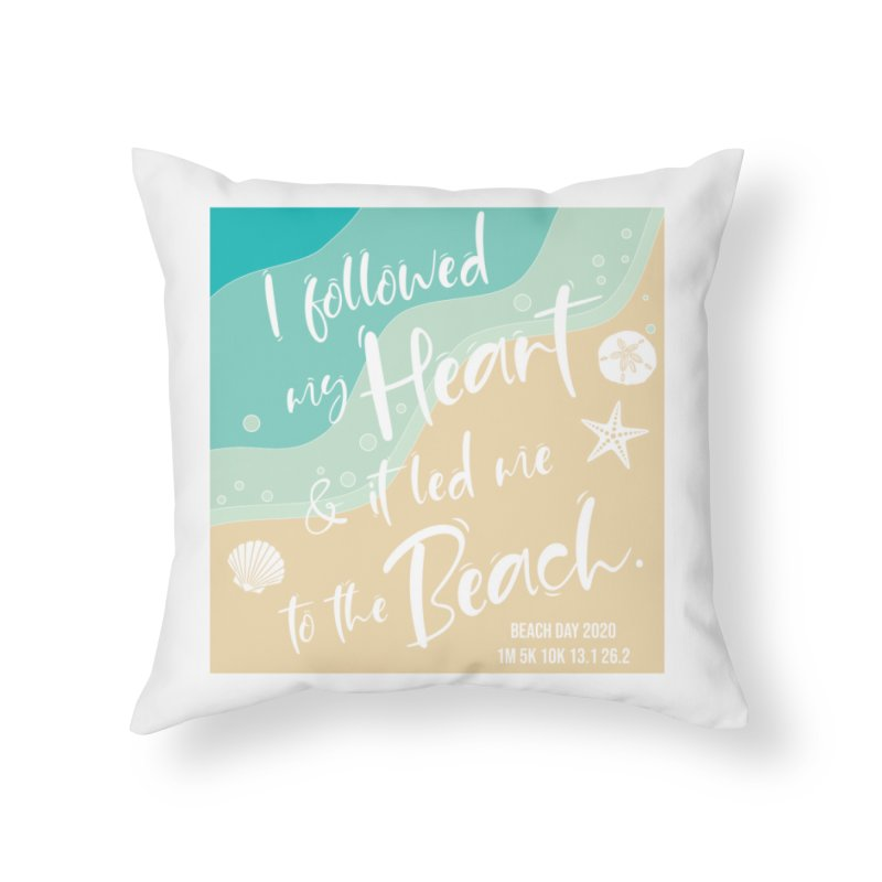 Beach Day Home Throw Pillow by Moon Joggers's Artist Shop