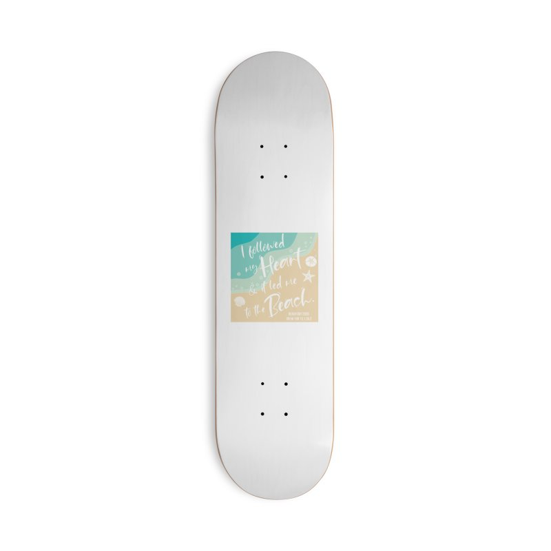 Beach Day Accessories Deck Only Skateboard by Moon Joggers's Artist Shop