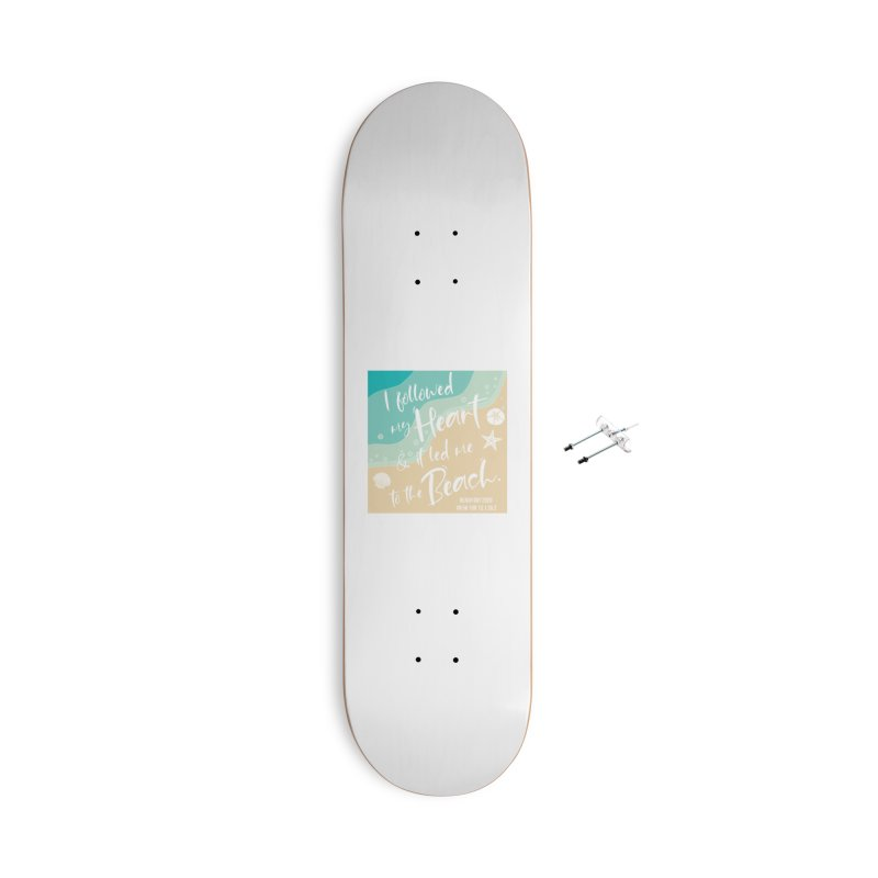 Beach Day Accessories With Hanging Hardware Skateboard by Moon Joggers's Artist Shop