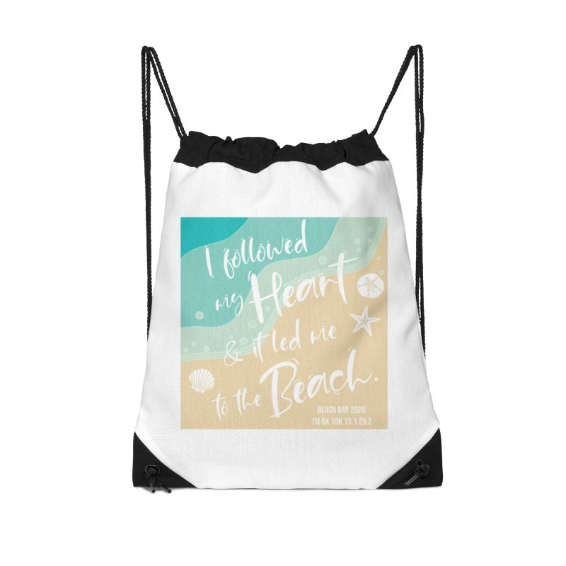 Beach Day Accessories Drawstring Bag Bag by Moon Joggers's Artist Shop