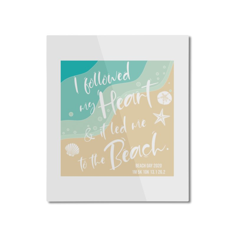 Beach Day Home Mounted Aluminum Print by Moon Joggers's Artist Shop