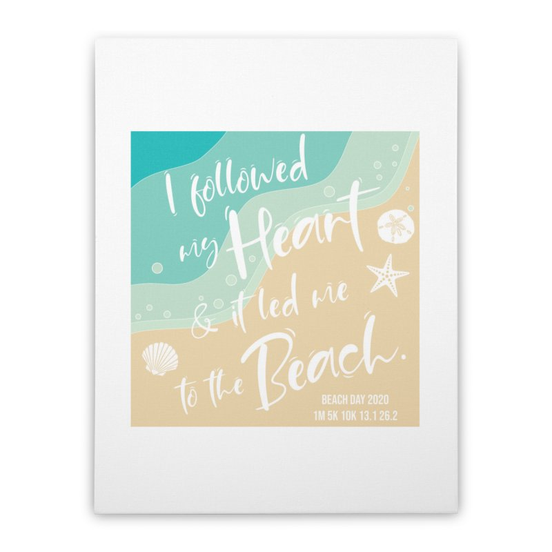 Beach Day Home Stretched Canvas by Moon Joggers's Artist Shop