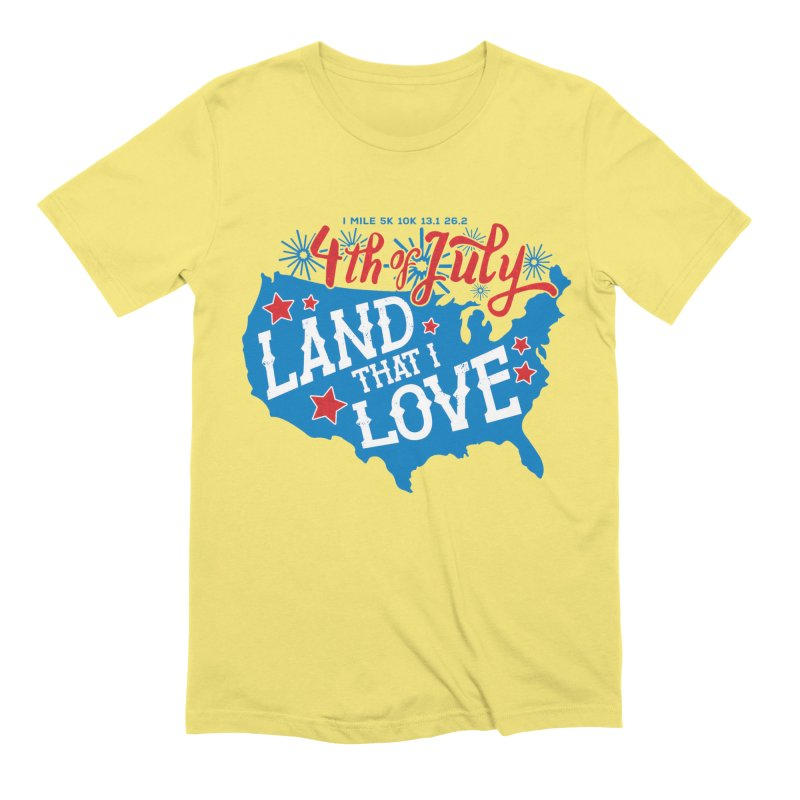 4th of July Men's Extra Soft T-Shirt by Moon Joggers's Artist Shop
