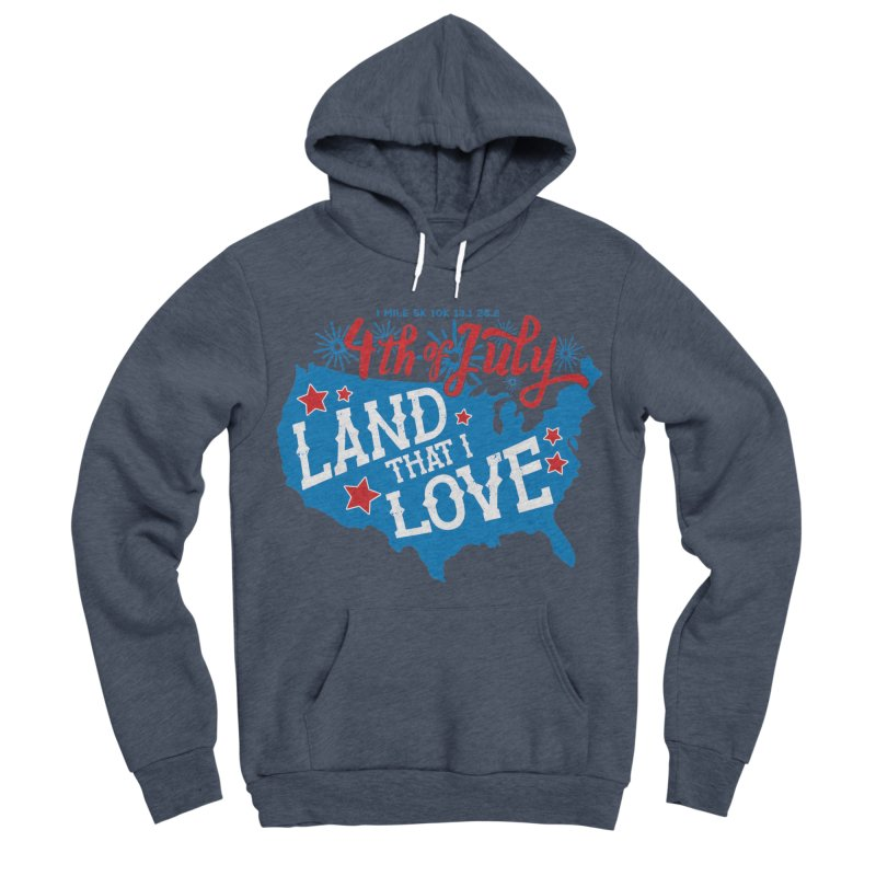 4th of July Men's Sponge Fleece Pullover Hoody by Moon Joggers's Artist Shop