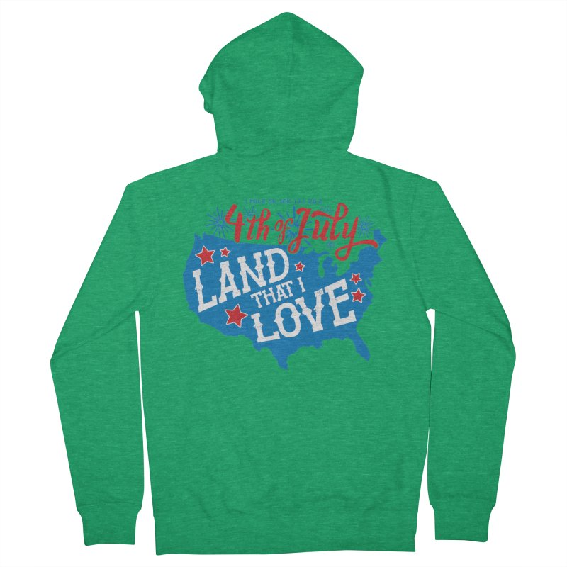 4th of July Men's French Terry Zip-Up Hoody by Moon Joggers's Artist Shop