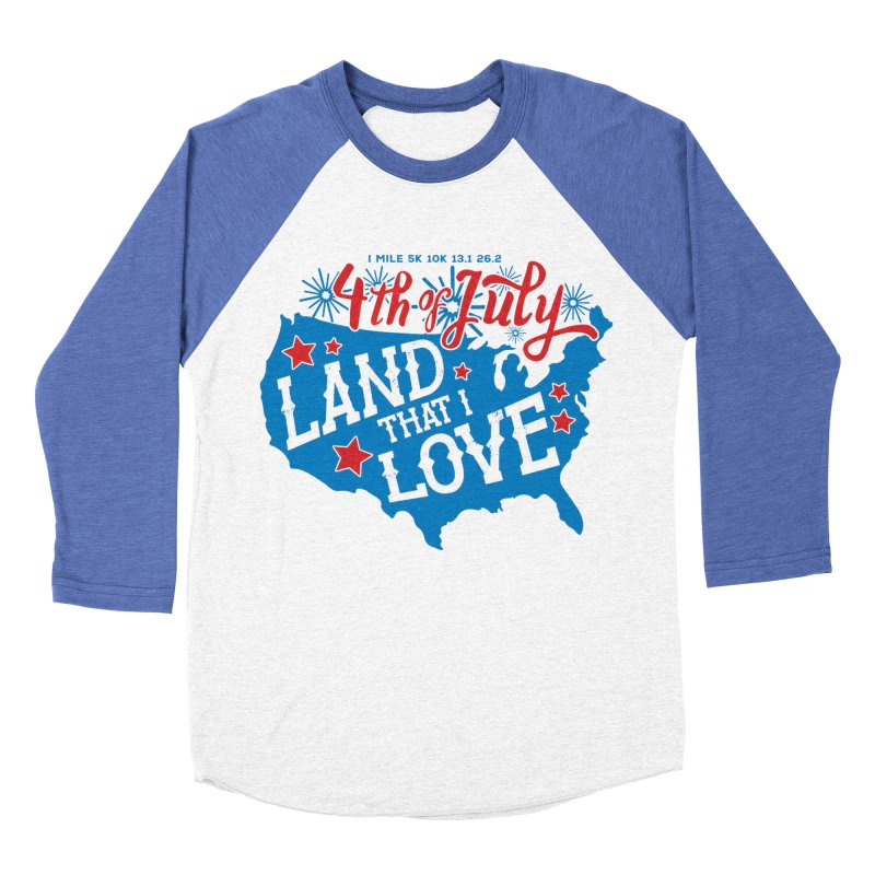 4th of July Women's Baseball Triblend Longsleeve T-Shirt by Moon Joggers's Artist Shop
