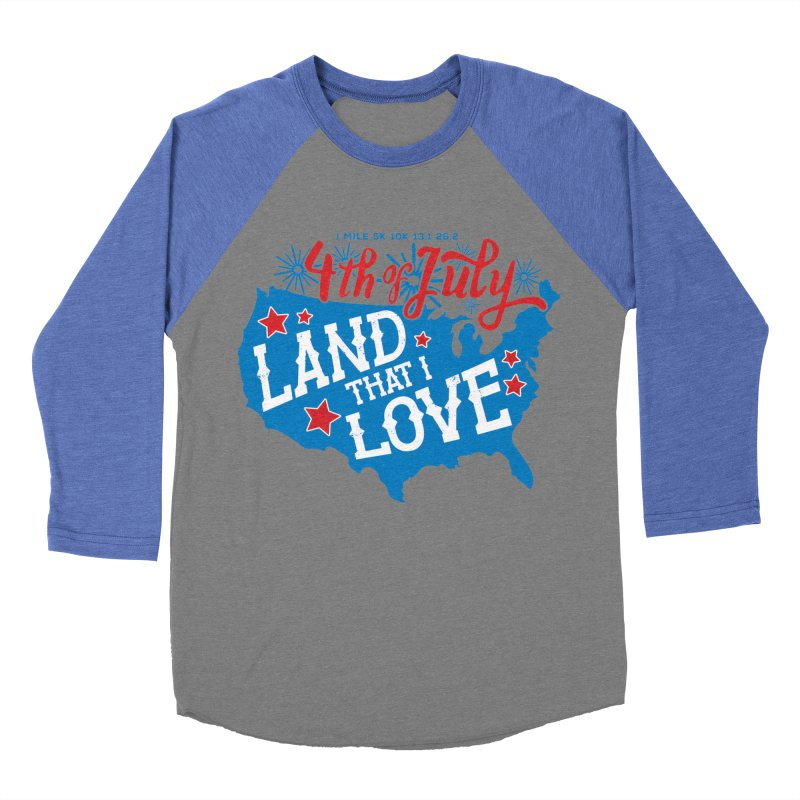 4th of July Men's Baseball Triblend Longsleeve T-Shirt by Moon Joggers's Artist Shop