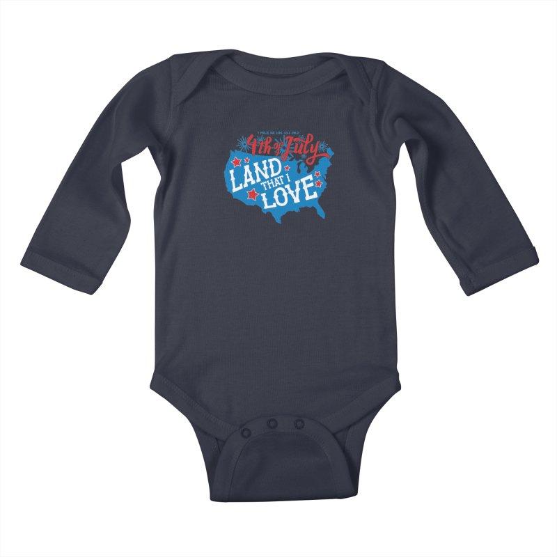 4th of July Kids Baby Longsleeve Bodysuit by Moon Joggers's Artist Shop