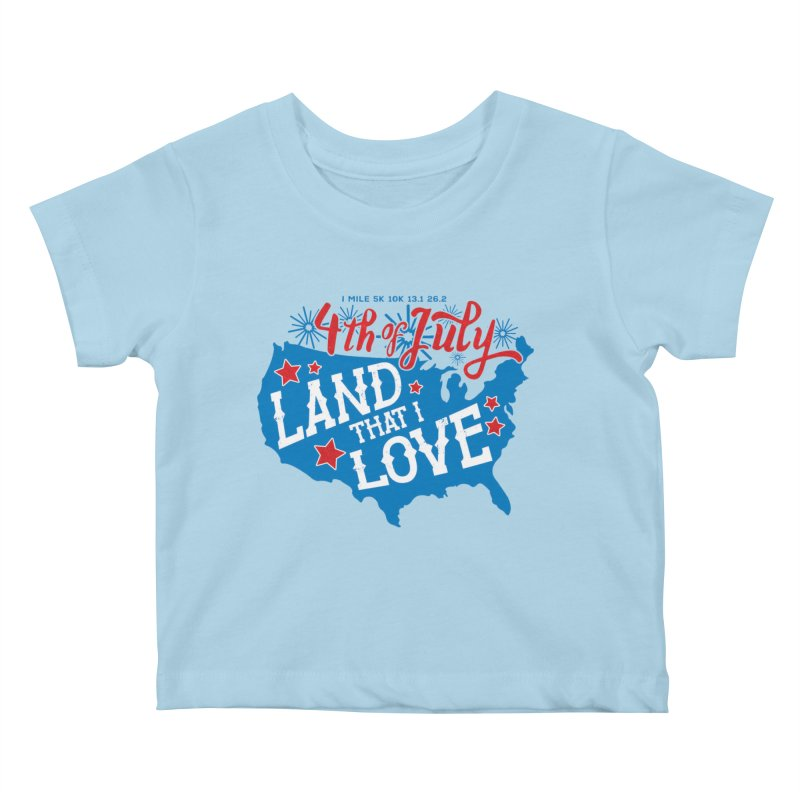 4th of July Kids Baby T-Shirt by Moon Joggers's Artist Shop