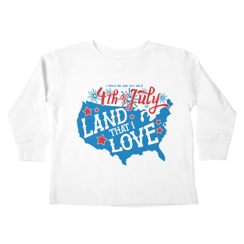 4th of July Kids Toddler Longsleeve T-Shirt by Moon Joggers's Artist Shop