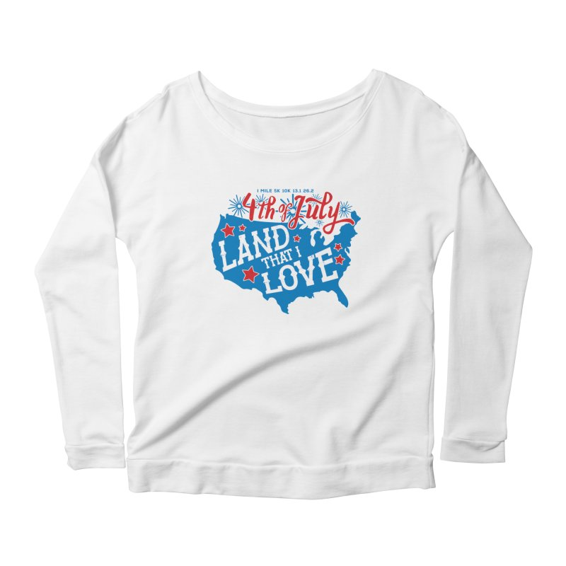 4th of July Women's Scoop Neck Longsleeve T-Shirt by Moon Joggers's Artist Shop