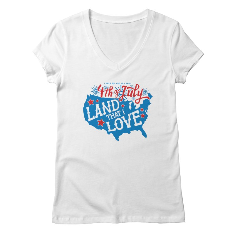 4th of July Women's Regular V-Neck by Moon Joggers's Artist Shop