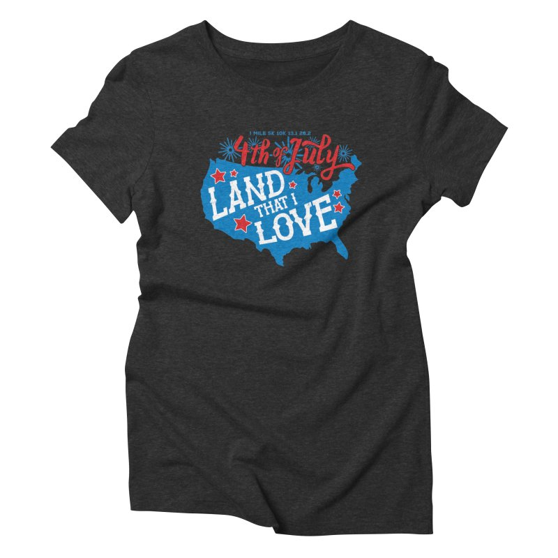 4th of July Women's Triblend T-Shirt by Moon Joggers's Artist Shop