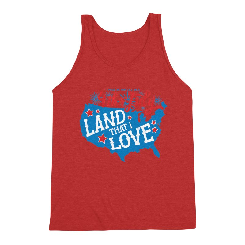 4th of July Men's Triblend Tank by Moon Joggers's Artist Shop
