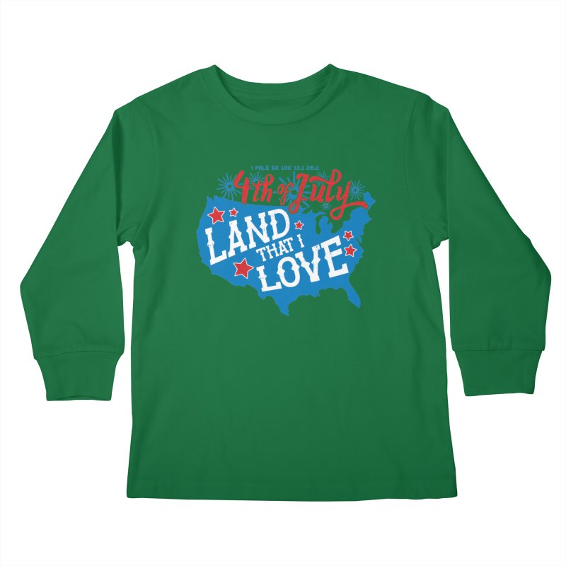 4th of July Kids Longsleeve T-Shirt by Moon Joggers's Artist Shop