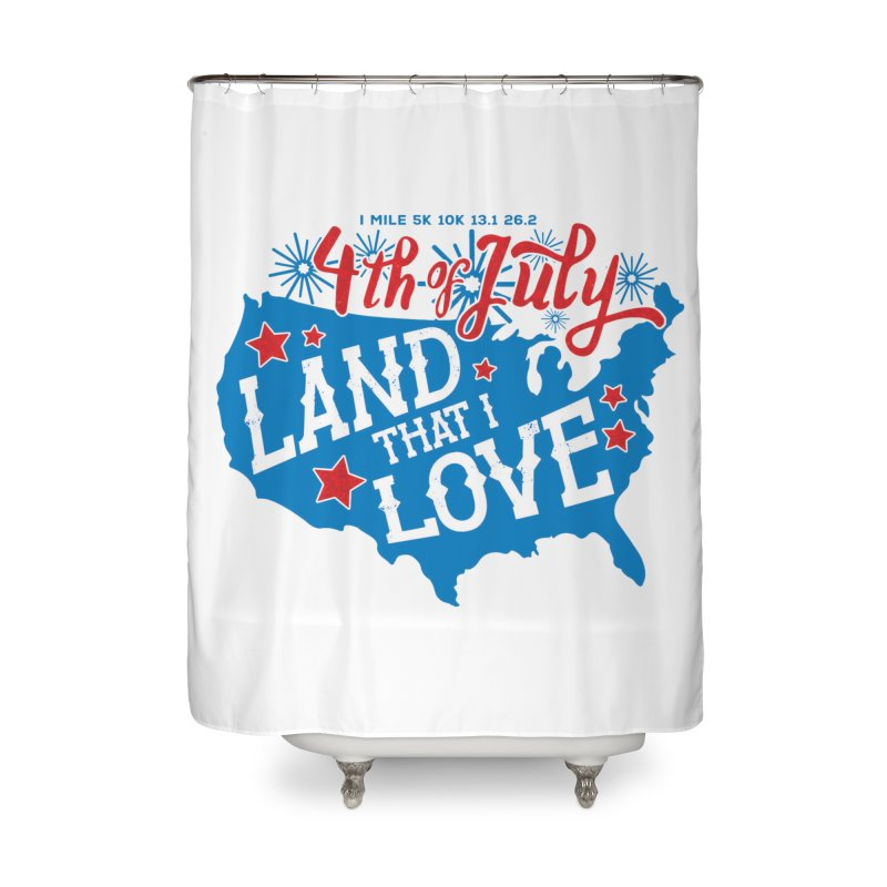 4th of July Home Shower Curtain by Moon Joggers's Artist Shop