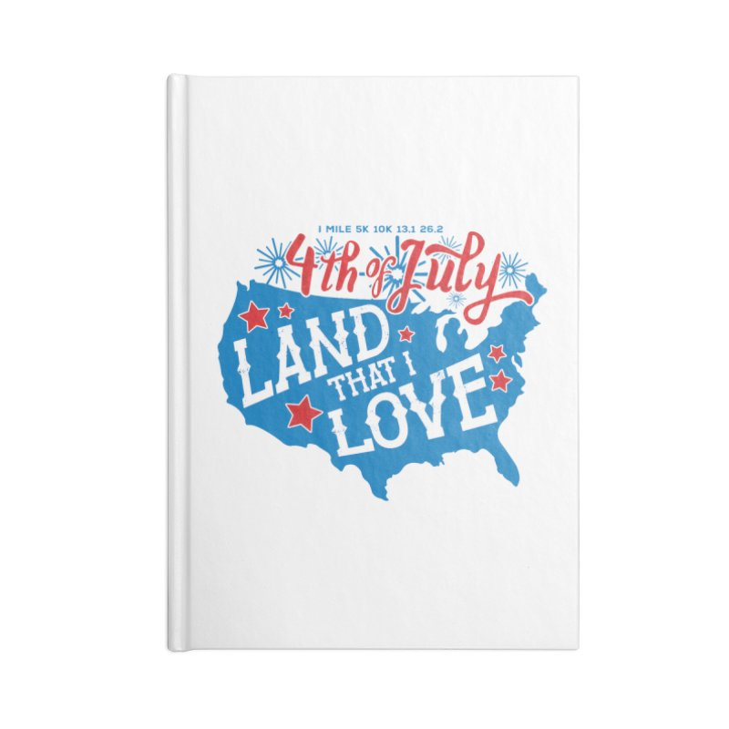 4th of July Accessories Blank Journal Notebook by Moon Joggers's Artist Shop