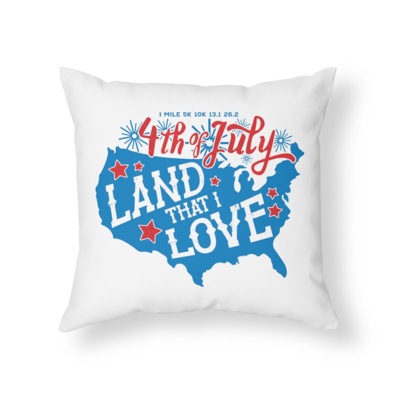4th of July Home Throw Pillow by Moon Joggers's Artist Shop