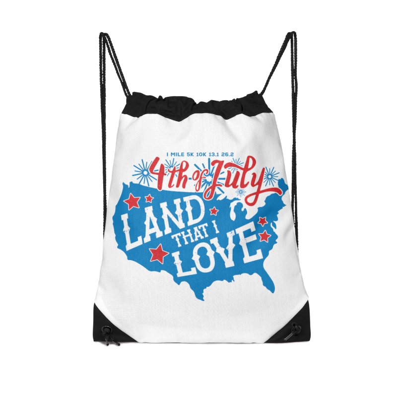 4th of July Accessories Drawstring Bag Bag by Moon Joggers's Artist Shop