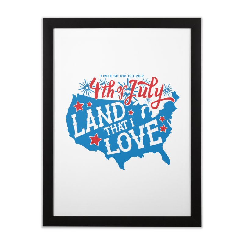 4th of July Home Framed Fine Art Print by Moon Joggers's Artist Shop