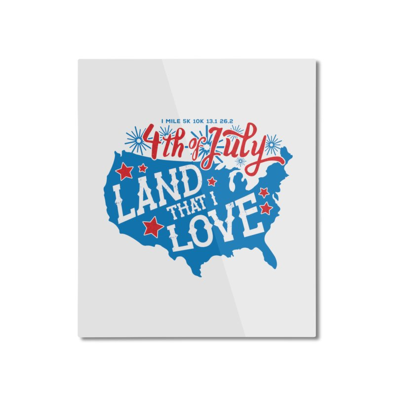 4th of July Home Mounted Aluminum Print by Moon Joggers's Artist Shop