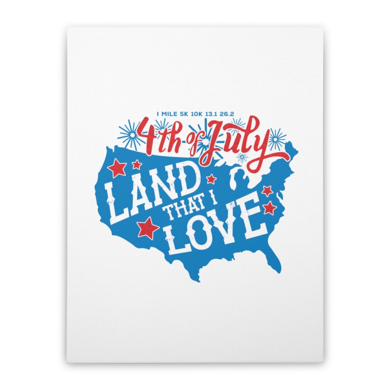 4th of July Home Stretched Canvas by Moon Joggers's Artist Shop