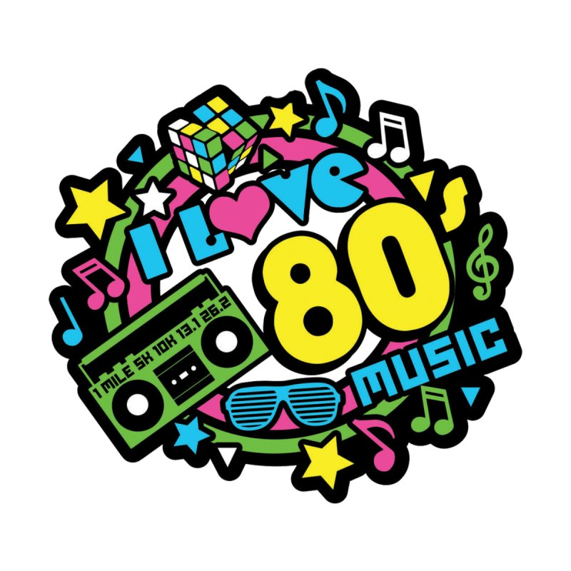 World Music Day - I Love 80s Music by Moon Joggers's Artist Shop