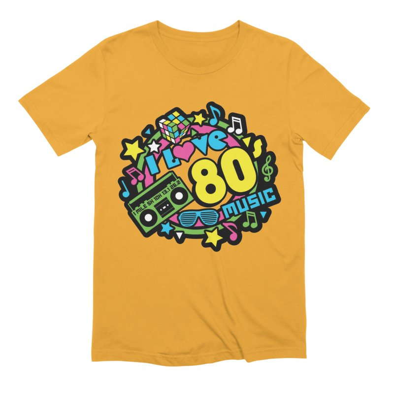 World Music Day - I Love 80s Music Men's Extra Soft T-Shirt by Moon Joggers's Artist Shop