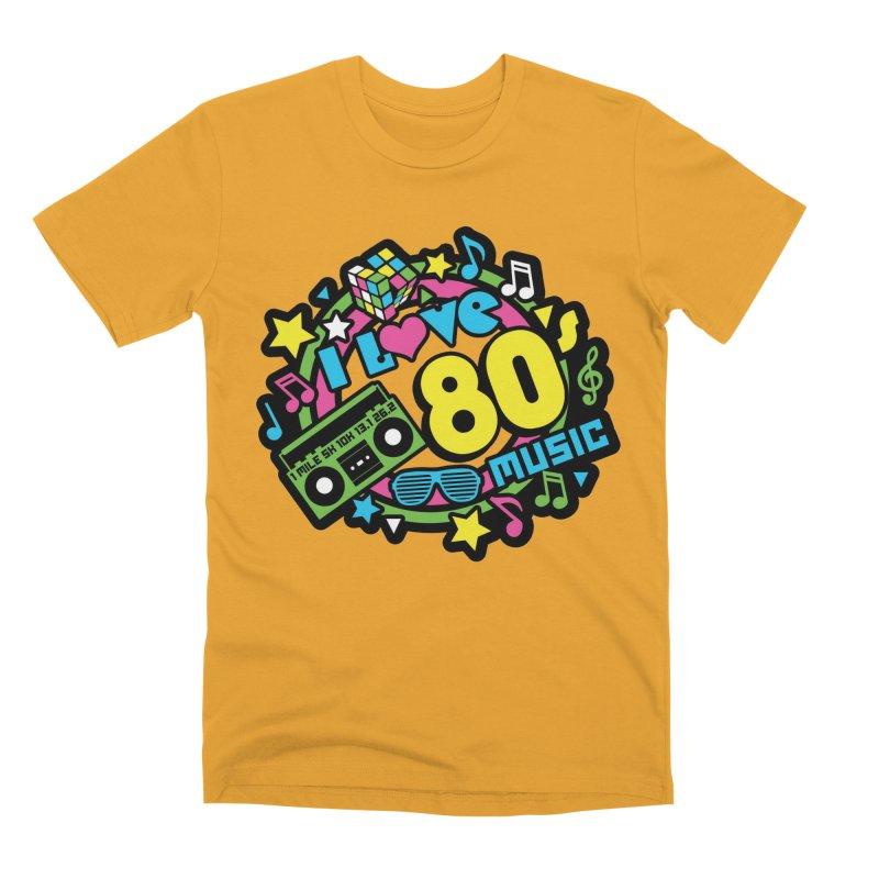 World Music Day - I Love 80s Music Men's Premium T-Shirt by Moon Joggers's Artist Shop