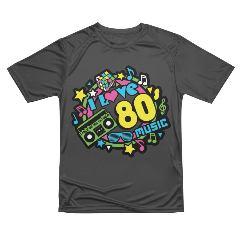 World Music Day - I Love 80s Music Men's Performance T-Shirt by Moon Joggers's Artist Shop