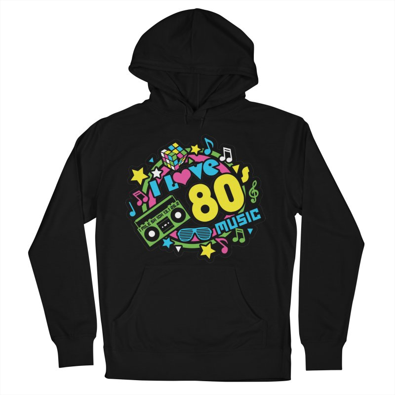 World Music Day - I Love 80s Music Women's French Terry Pullover Hoody by Moon Joggers's Artist Shop