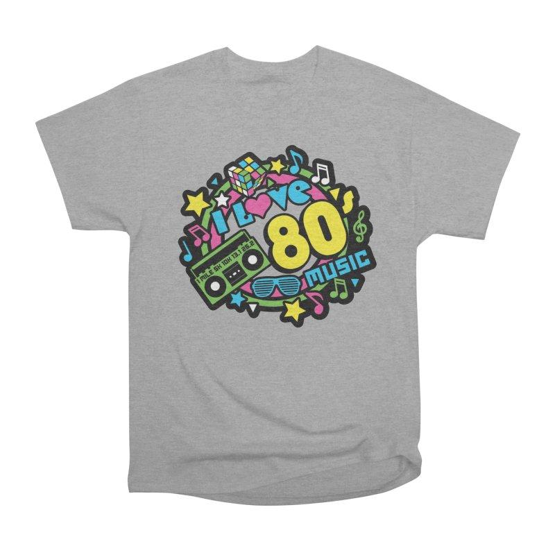 World Music Day - I Love 80s Music Men's Heavyweight T-Shirt by Moon Joggers's Artist Shop