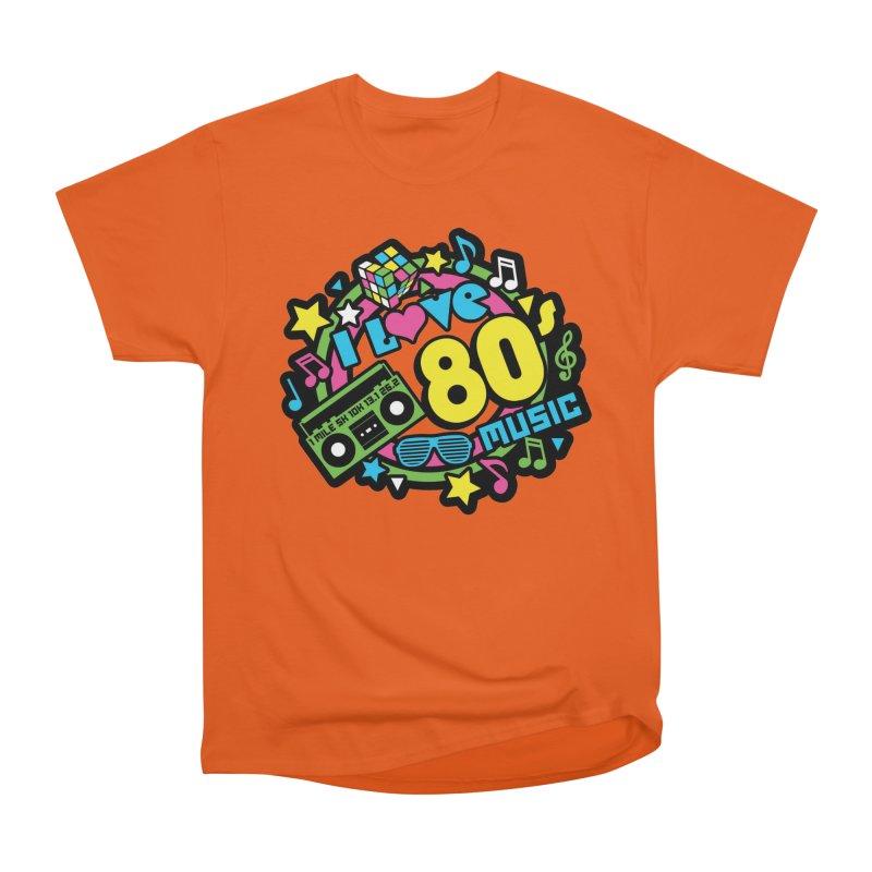 World Music Day - I Love 80s Music Women's Heavyweight Unisex T-Shirt by Moon Joggers's Artist Shop
