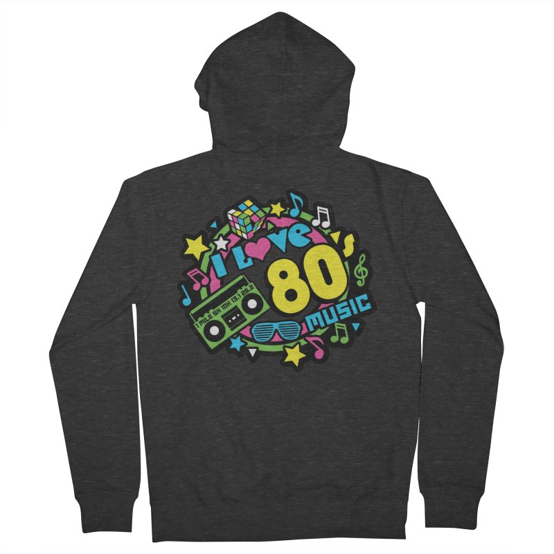 World Music Day - I Love 80s Music Women's French Terry Zip-Up Hoody by Moon Joggers's Artist Shop