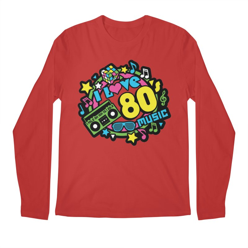 World Music Day - I Love 80s Music Men's Regular Longsleeve T-Shirt by Moon Joggers's Artist Shop