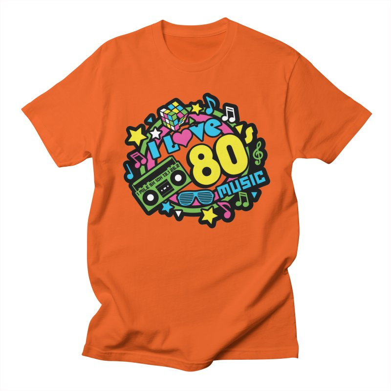 World Music Day - I Love 80s Music Men's Regular T-Shirt by Moon Joggers's Artist Shop