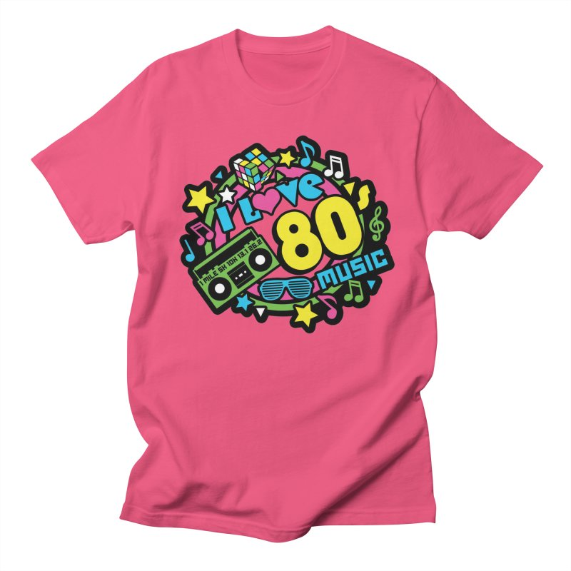 World Music Day - I Love 80s Music Women's Regular Unisex T-Shirt by Moon Joggers's Artist Shop
