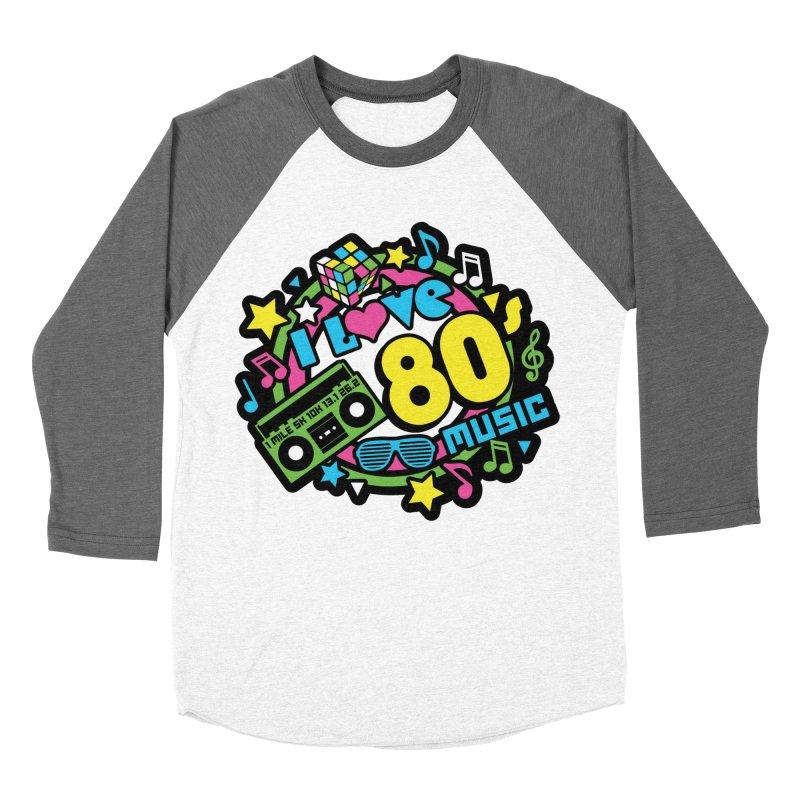 World Music Day - I Love 80s Music Women's Baseball Triblend Longsleeve T-Shirt by Moon Joggers's Artist Shop